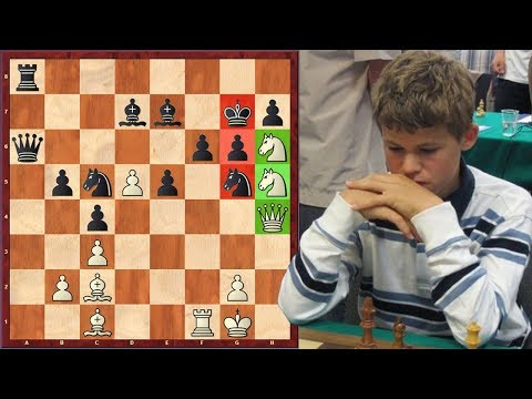 Magnus Carlsen's Most Beautiful Checkmate Ever (Age 12)