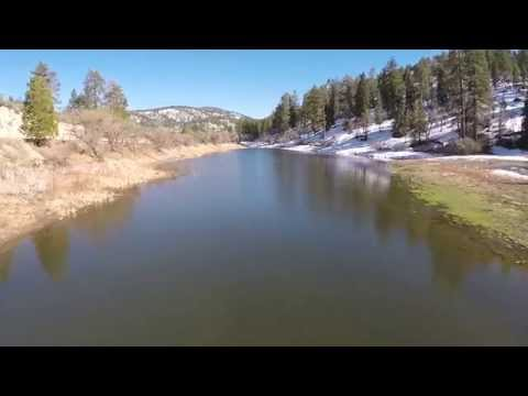 Jackson Lake, Wrightwood California Aerial