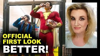 Shazam Movie OFFICIAL First Look - Costume, Cola?!