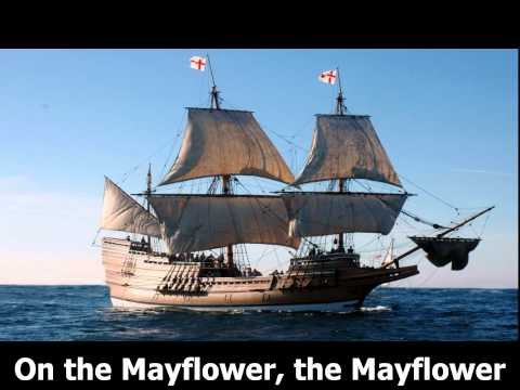 Mayflower - Thanksgiving song with text. Karaoke.