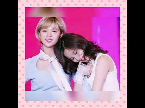 So sweet couple jeongmi & jeongyeon +mina