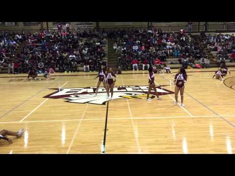 Romulus High School 2015 Cheerleaders pep rally performance