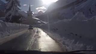 La neve, le strade nelle valli di Cogne, Valsavarenche e Rhêmes