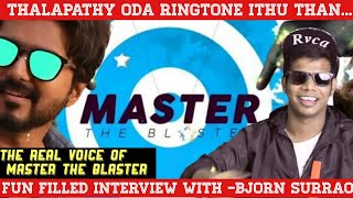 Master | The Man Behind Master the Blaster | Bjorn Surrao | Anirudh | Informative idiot