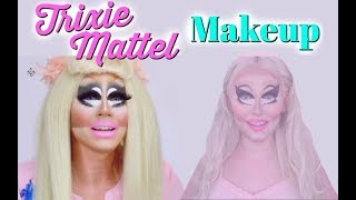 I tried following a Trixie Mattel makeup tutorial