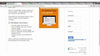 Eine B2B-Landingpage Mit 100% G-Suite-Komponenten