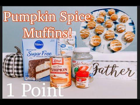 1 POINT PUMPKIN SPICE MUFFINS | WEIGHT WATCHERS | PUMPKIN SPICE