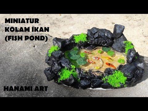 miniatur kolam ikan resin / miniature fish pond resin