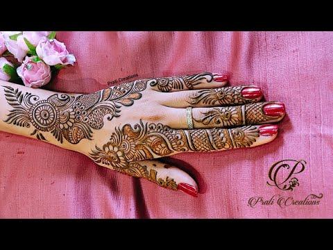 mehndi design for left hand back