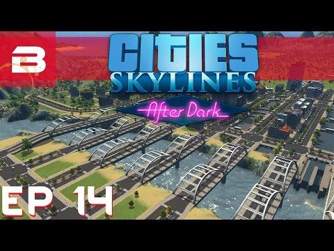 Cities Skylines After Dark - Prison Break Water-Walkers - Ep 14 (City Building Gameplay)