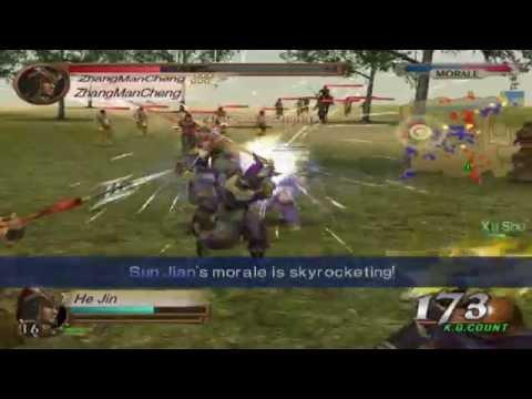 Dynasty Warriors 3 - He Jin Gameplay