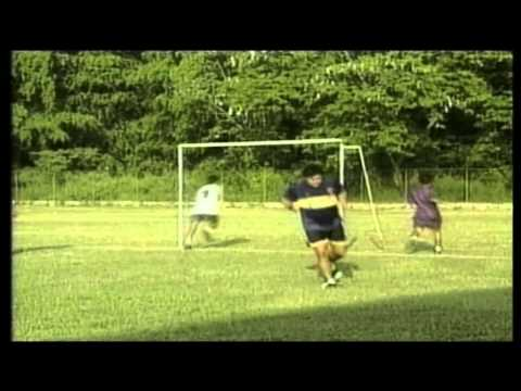 Maradona playing soccer game in Cuba (2001)