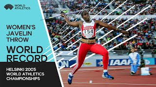World Records - Javelin Throw women Final Helsinki 2005