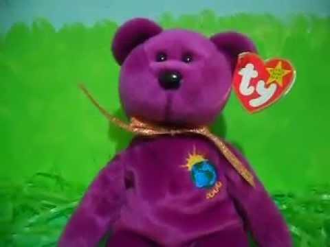 4a03ed85fa9 Ty Beanie Baby MILLENIUM (1999) - YouTube