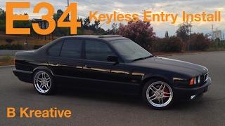 e34 keyless entry 1995 bmw 525i united auto security module install m4v