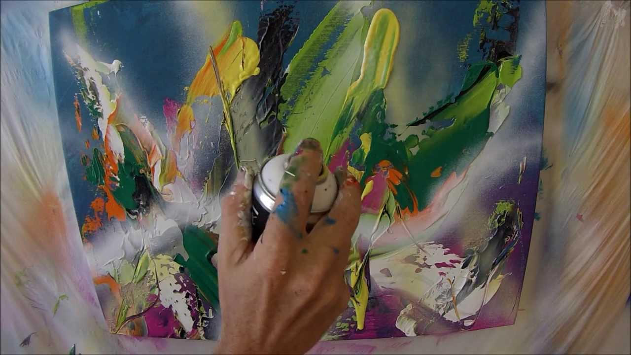 Learn To Paint Airy Abstract Painting About Nature (HD