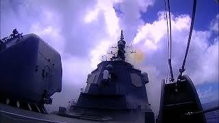 イージス艦「みょうこう」対艦ミサイル迎撃戦闘訓練