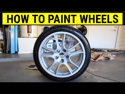 How to spray paint your wheels – DIY Tutorial on Porsche Cayenne