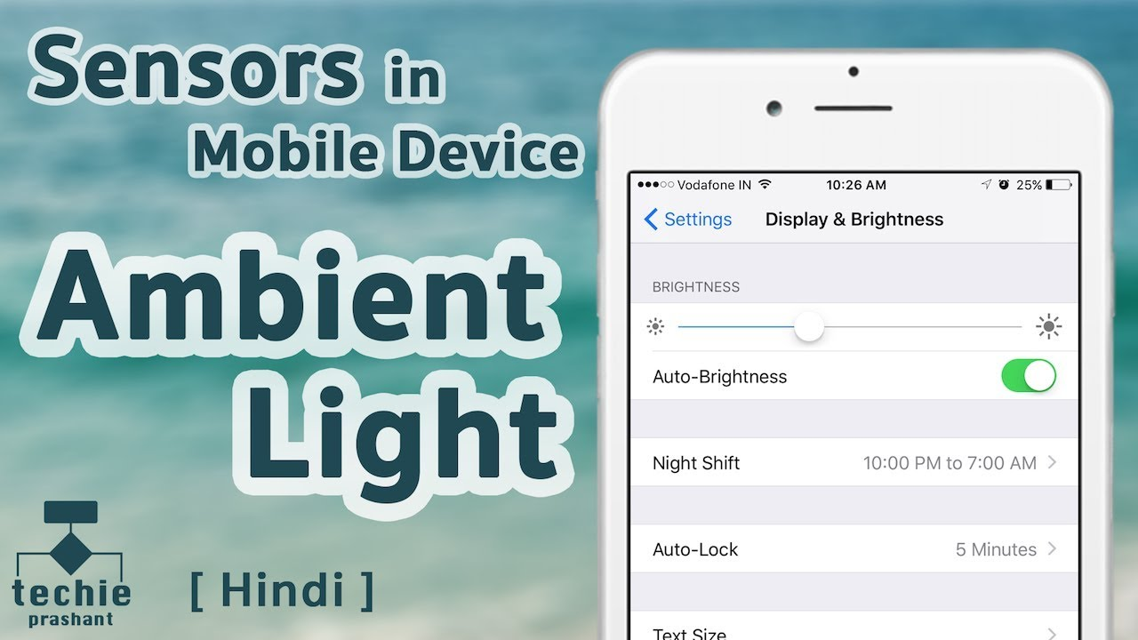 Ambient Light Sensor In IPhone, IPad, And Other Mobile Device. HINDI Ideas
