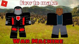 How to make War Machine in Roblox Superhero life 2