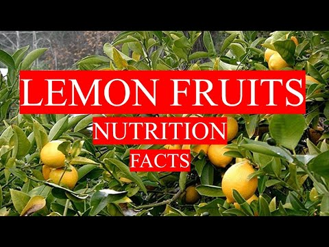 LEMON FRUITS NUTRITION FACTS AND HEALTH BENEFITS