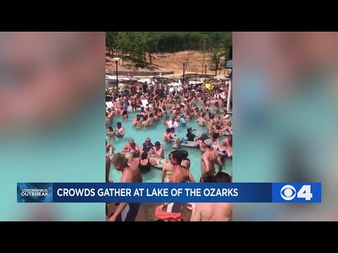 Packed Pool Party At Lake Of The Ozarks Shows Crowd Ignoring Social Distancing Guidelines