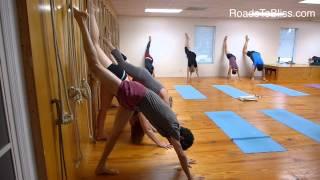 Urdhva Prasarita Ekapadasana  with Lois Steinberg, Ph.D. Certified Iyengar Yoga Teacher Advanced 2