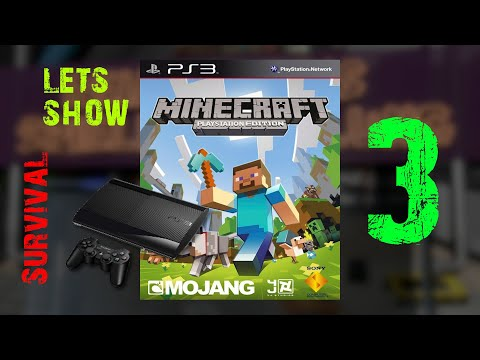 Gameplay : Minecraft : PS3 Edition Survival : Episode 3 : Open the door to the end