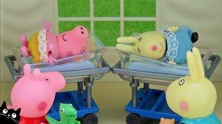 Peppa Pig - Mama Pig Embarazada va al Hospital a tener al bebé George - Juguetes Peppa Pig