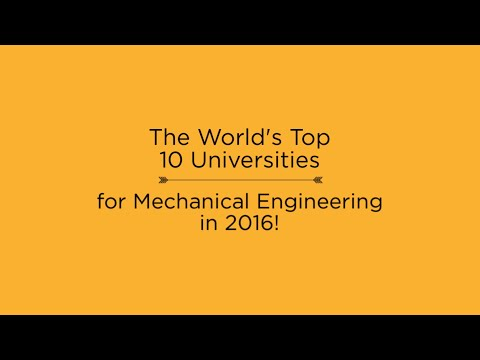 Top 10 Universities for Mechanical Engineering in 2016