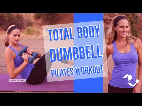 31 Minute Total Body Dumbbell Pilates Workout to Sculpt & Tone