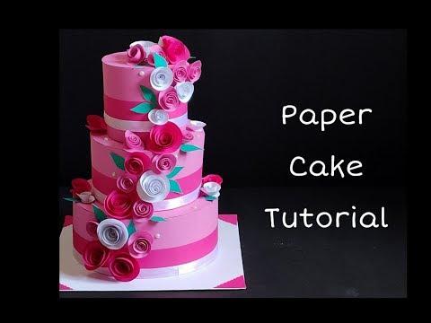 How to Make Paper Cake | Birthday / Anniversary Gift Idea | Meesho