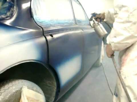 Classic Car Respray Mk2 Jaguar Blue.AVI - YouTube