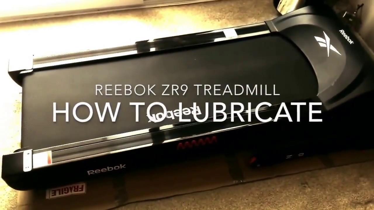 How To Lubricate Reebok Zr9 Treadmill Running Machine Youtube