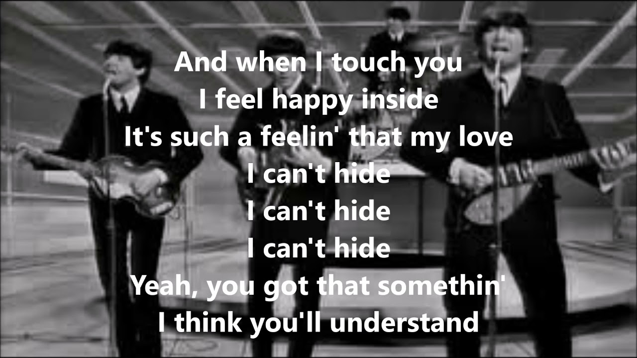 I want to hold your hand with lyrics(The Beatles) - YouTube