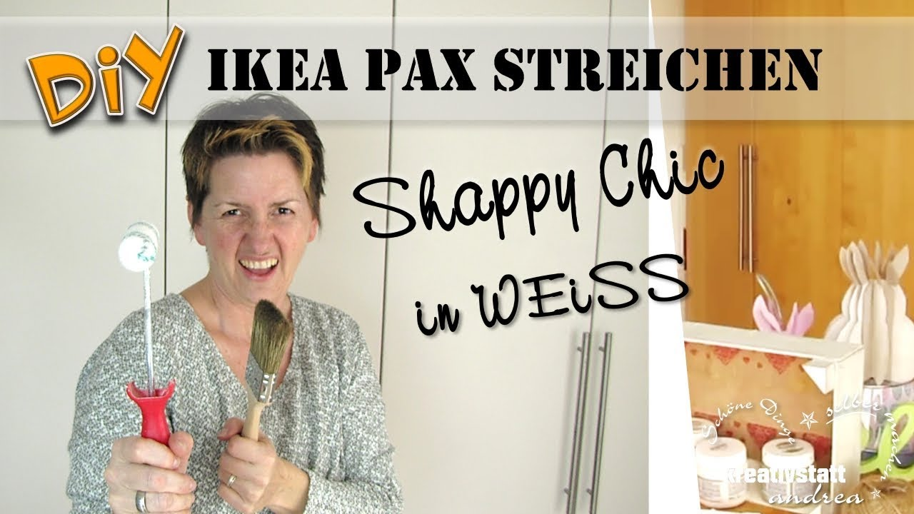 Diy Ikea Hack Pax Shabby Chic Furniture Chalk Paint Cupboard Make Over