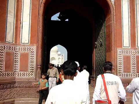 Llegando al Taj Mahal