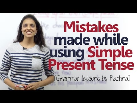 English Grammar lesson - Mistakes made using 'Simple Present Tense' ( Learn English)