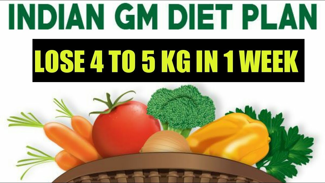 Indian Gm Diet Plan In Hindi Lose 5 Kg In 1 Week Fastest Way To