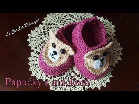 ecd9f77e24f8 Háčkované papučky Crochet adult slipper (US crochet term)