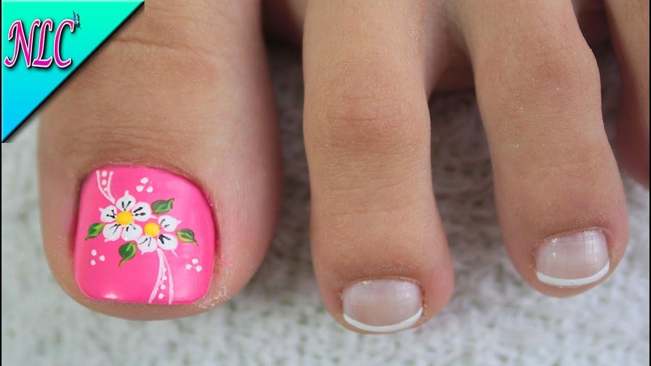 Decoración De Uñas Para Pies Flores Fácil De Hacer Flowers Nail