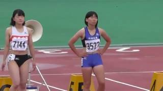 2016.7.9 第55回 秋田県陸上競技選手権 女子100m 決勝
