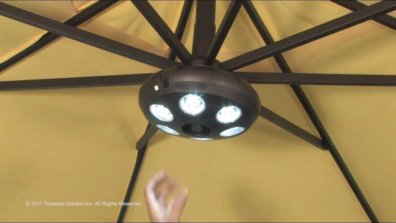 Vega Light For Cantilever Umbrella Youtube