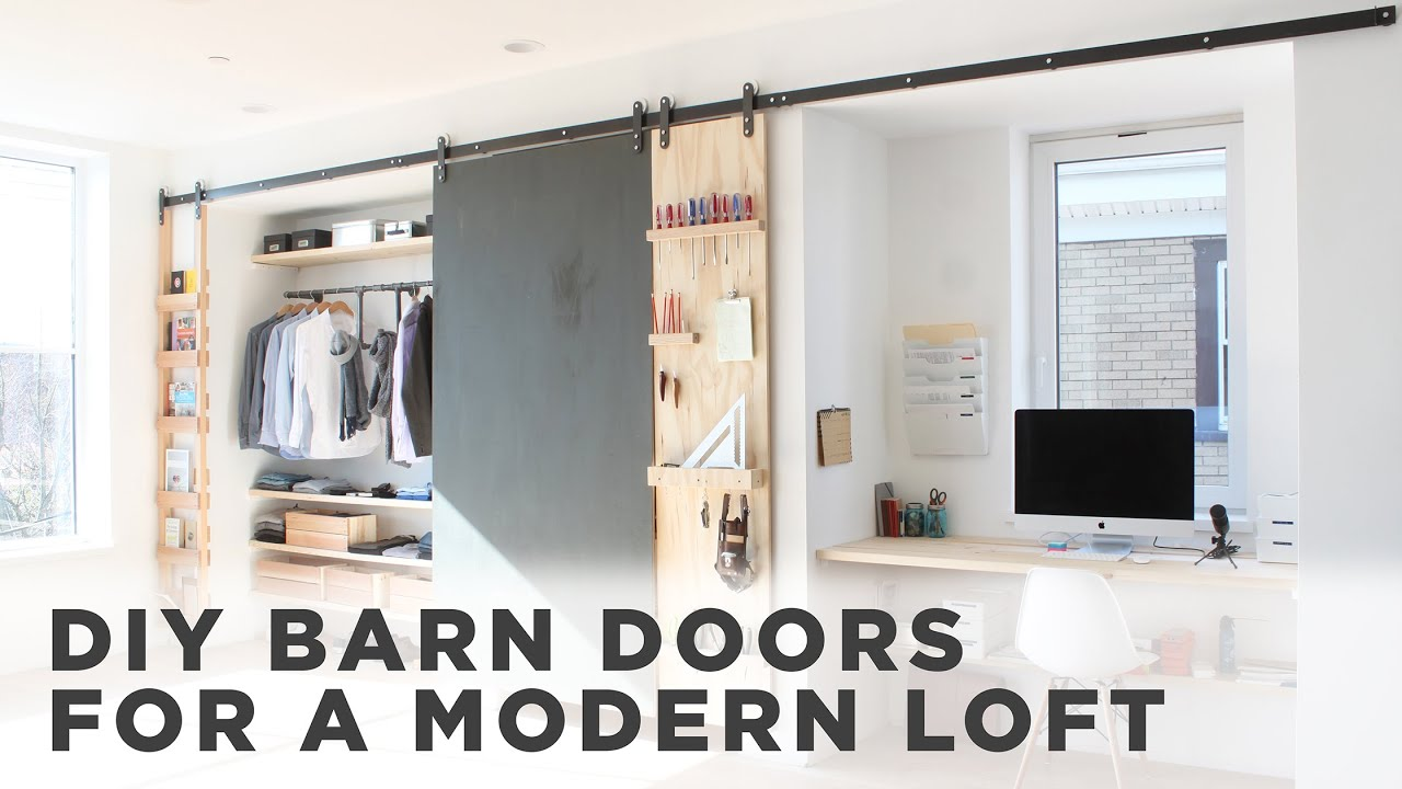 How To Install Barn Door Hardware - YouTube