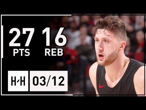 Jusuf Nurkic Full Highlights vs Miami Heat (2018.03.12) - 27 Pts, 16 Reb, 3 Blocks