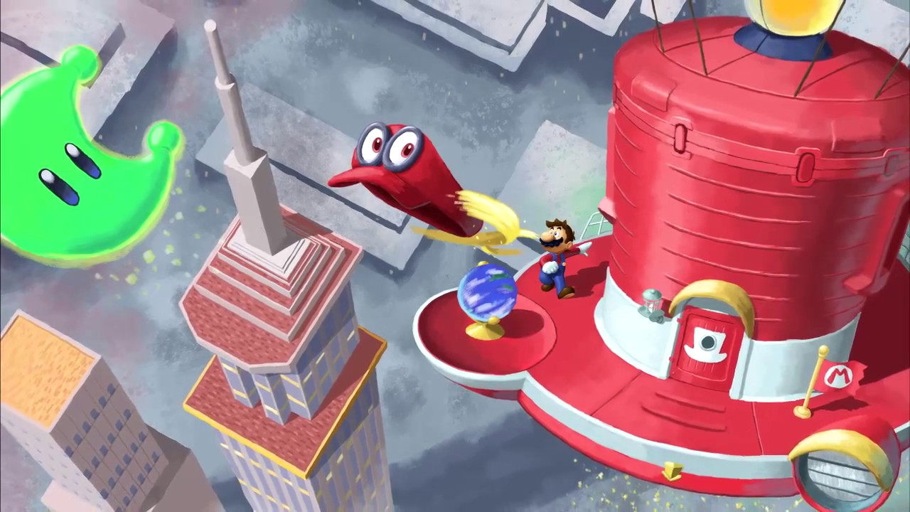 Great Wide Wacky World Super Mario Odyssey Time Lapse Painting