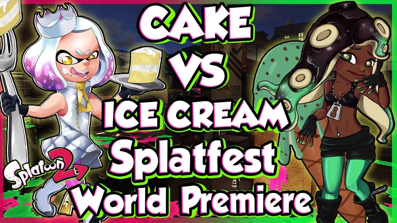 Abm Splatoon 2 Splatfest Cake Vs Ice Cream Gameplay Match Hd