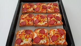 5 Dakikada Pizza Nasıl Yapılır? Tost Ekmeği ile Çok Pratik Pizza-Pratik Tarifler-Gurbetinmutfagi