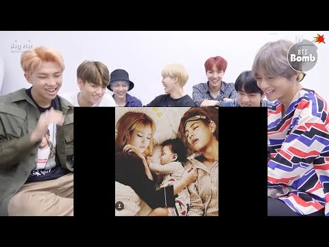 BTS Reaction When Lisa Vs Teahyung Had A Small Family