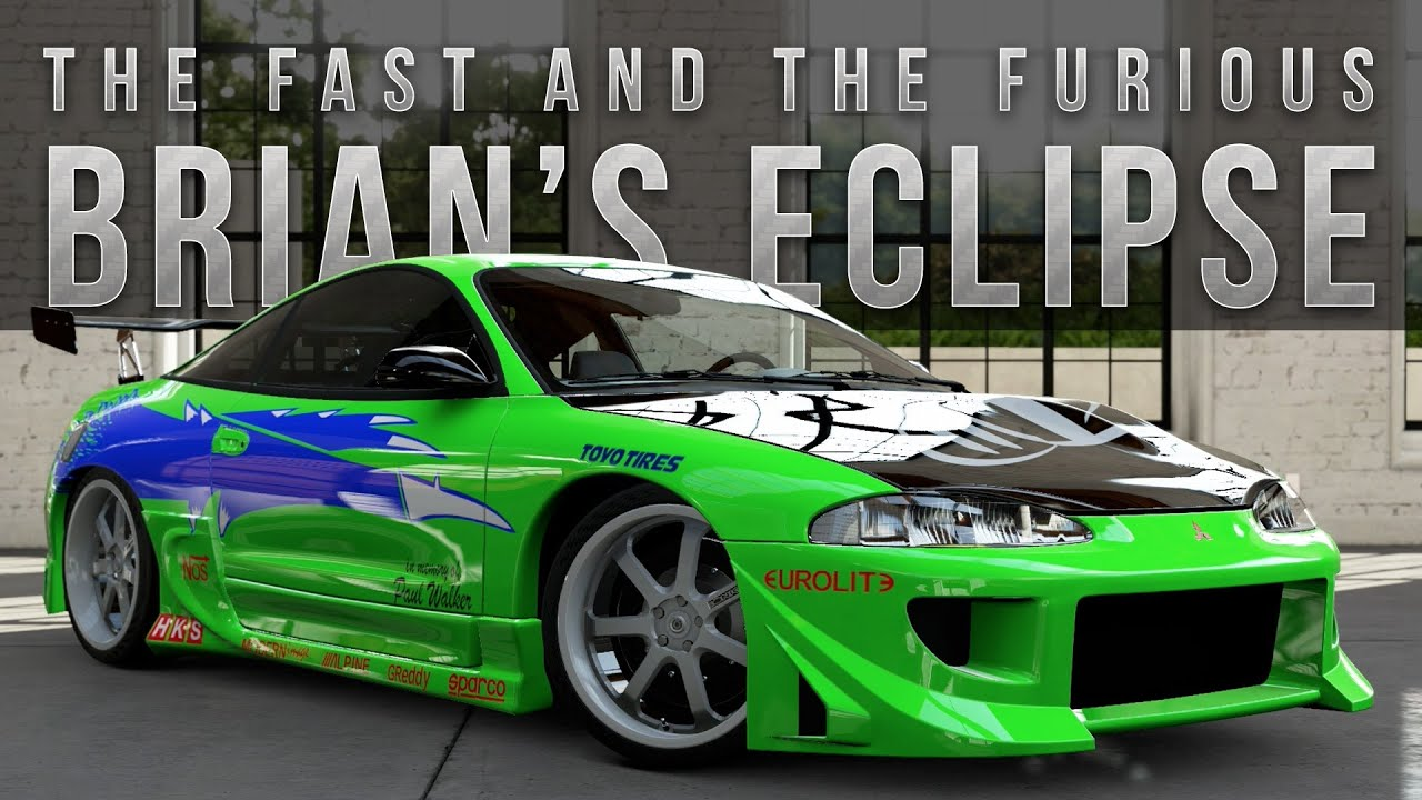 forza 5 fast furious car build brian 39 s eclipse youtube. Black Bedroom Furniture Sets. Home Design Ideas